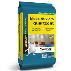 Argamassa para Bloco de Vidro Branca 20kg - Quartzolit