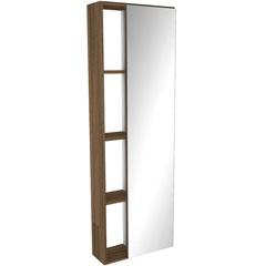 Armário com Espelho em Mdf Florença 121,5x40cm Terracota - Darabas