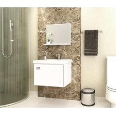Armário de Banheiro Margarida Branco Kit - Cozimax