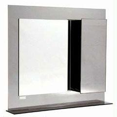 Armário em Aço Inox com Espelho Fumê 74x65cm Ref. Ab130 - H. Chebli