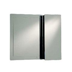 Armário em Aço Inox com Espelho Prata 80x70x13cm Ref. Pr310 - H. Chebli