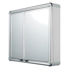 Armário em Alumínio 2 Portas de Sobrepor 54x45 Cm - Astra