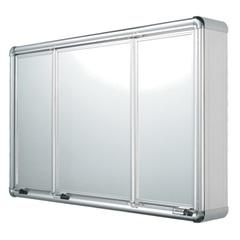 Armário em Alumínio 3 Portas de Sobrepor 73x45 Cm - Astra