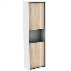 Armário Lateral para Banheiro em Mdf Módena 99,5x30cm Mezzo Blanco - Darabas
