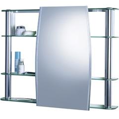 Armário para Banheiro de Sobrepor com Espelho Slip 80x61cm Cromado - Cris Metal