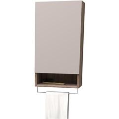 Armário para Banheiro em Mdf com Porta Tolhas Aimoré 61,5x33,2cm Nude E Tamarindo - Cozimax