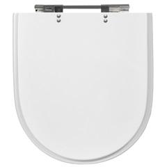 Assento Carrara de Poliéster Branco Cromado Ref. 4313  - Casanova