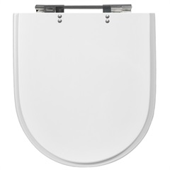 Assento Carrara Link Duna Nuova de Poliéster Branco Cromado Ref. 4313  - Casanova