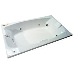 Banheira Mysia G2 Branca P2 183x110 Cm com Aquecedor - Jacuzzi