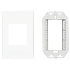 Bastidor com Placa 2 Funções 4x2 Impéria Branco 772171  - Iriel