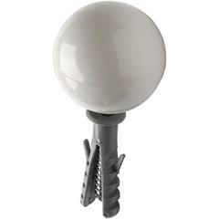 Batedor de Porta em Pvc Branco com Bucha Ref. Bat/01 - Fixtil