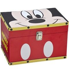 Baú em Mdf Retangular Mickey Parts 16x24cm Vermelho - Importado