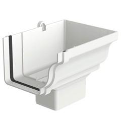 Bocal Retangular Direito Aquapluv Style Branco