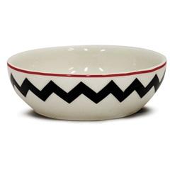Bowl Cerâmica Onna 523ml Branca E Preta - Corona