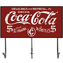 Cabideiro 3 Hooks Coca-Cola 5 Cents - Urban