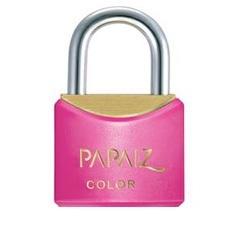 Cadeado em Latão Color Line 25mm Rosa