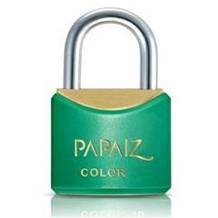 Cadeado Latão Cr20sm Verde Color Line - Papaiz