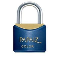 Cadeado Latão Cr25sm Azul Color Line - Papaiz