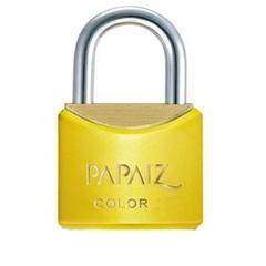 Cadeado Latão Cr30sm Amarelo Color Line - Papaiz