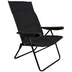 Cadeira Alfa 4 Posições Preta Ref. 2301 - Metalurgica Mor