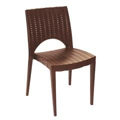 Cadeira Casabella Rattan Marrom 6071 - Plasútil