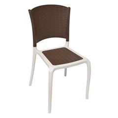 Cadeira Centaurus Rattan Marron/Branca - Plasútil