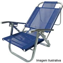 Cadeira de Praia em Alumínio Copacabana Azul Royal - Botafogo