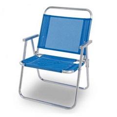 Cadeira de Praia Oversize Aluminio Azul  - Mor