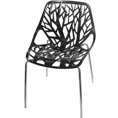 Cadeira em Polipropileno Elisa Preta E Cromada - Importado