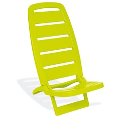 Cadeira Espreguiçadeira Guarujá Amarelo  - Tramontina