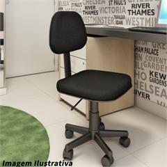 Cadeira Secretária Preta com Pistão À Gás Ref. Sc25501-Black  - Importado