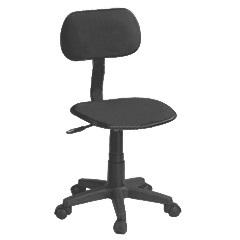 Cadeira Secretária sem Braço Preta Ref. Qzy-Ao-Ng - LandMega