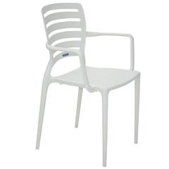 Cadeira Sofia com Braço Branco  - Tramontina