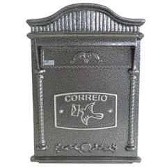 Caixa de Correio em Alumínio Astral 44x28cm Prata - Prates & Barbosa