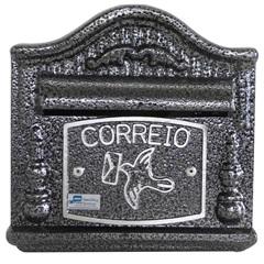 Caixa de Correio em Alumínio Decor 19x20cm Prata - Prates & Barbosa