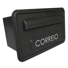 CAIXA DE CORREIO PRETA 15,7X25,7CM 638228 Fixtil