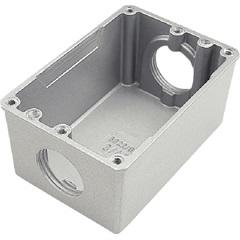 Caixa de Luz para Piso Fechada E Baixa 4x2 Cinza - Tramontina