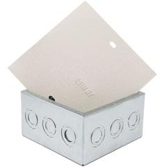 Caixa de Passagem para Embutir Metálica Bege 15 X 15 Cm  Dy901021 - Pial Legrand