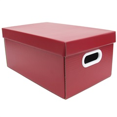 Caixa Office Pequena Vermelha 17,5x24,5cm  - Boxgraphia