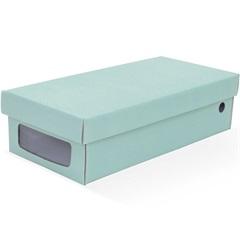 Caixa Organizadora para Sapatilhas 30x14x8cm Acqua Verde - Boxgraphia