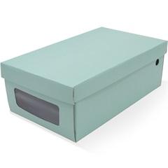 Caixa Organizadora para Sapatos 32x18,5x11cm Acqua Verde - Boxgraphia