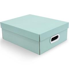 Caixa Organizadora Stok Paper 28x35x12cm Acqua Verde - Boxgraphia