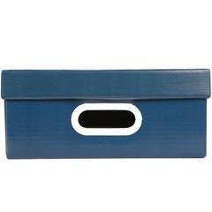 Caixa Organizadora Stok Paper Azul Petróleo 35 X 28 X 12 Cm - Boxgraphia