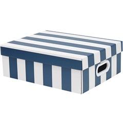 Caixa Stok Paper com Listras Azul 13x29cm  - Boxgraphia