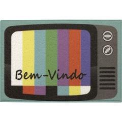 Capacho Divertido Tv 40x60cm - Kapazi