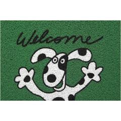 Capacho Super Print Welcome Dog Verde 40x60cm - Kapazi