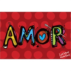Capacho Vinil Art Luciano Martins Amor 40x60cm - Kapazi
