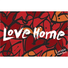 Capacho Vinil Art Luciano Martins Love Home 40 X 60 Cm  - Kapazi