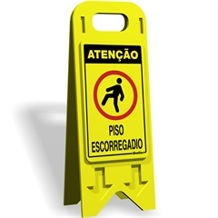 "Cavalete de ""Poliestireno Piso Escorregadio"" 20x53cm  - Sinalize"