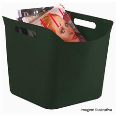 Cesto Flexível Quadrado de Plástico Verde 25 Litros  - Keter